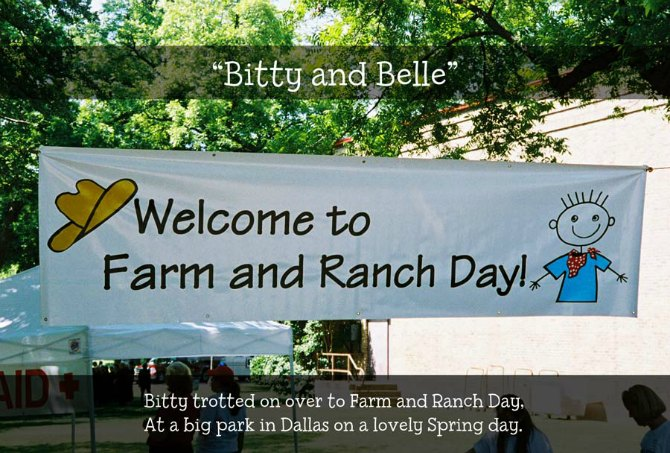 Bitty arrives at Farm and Ranch Day